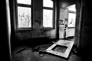 Abandoned broken hospital