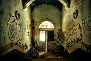 Decaying hospital