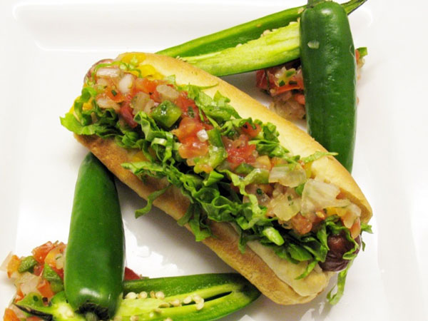 Taco dog, Coors Field - Stadium Foods; Stadium Food
