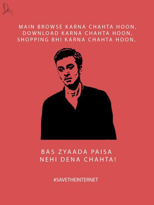 Ranbir Kapoor SaveTheInternet