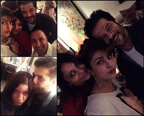 Priyanka Chopra, Anil Kapoor, Karan johar Selfie