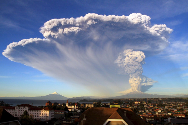 Chile's Volcano Eruption covered the skies