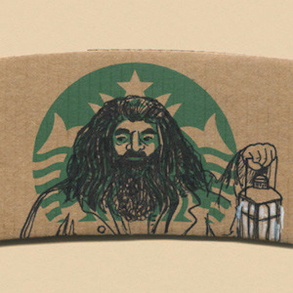 Hagrid on StarBucks Mermaid