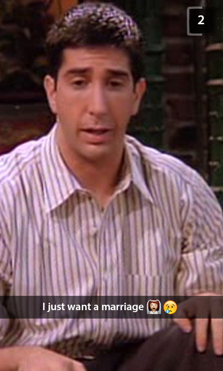 Friends Ross Geller Snapchat
