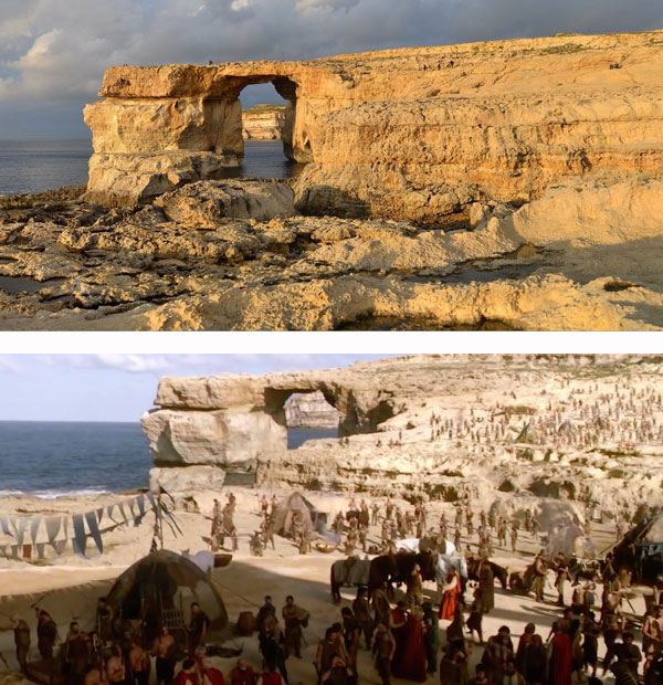 Game of thrones -Daenerys Targaryen's wedding (Azure Window Malta)