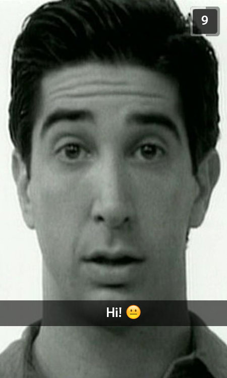 Friends Snapchat Ross geller
