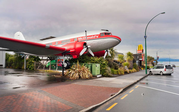 Disused DC-3 in Taupo, New Zealand