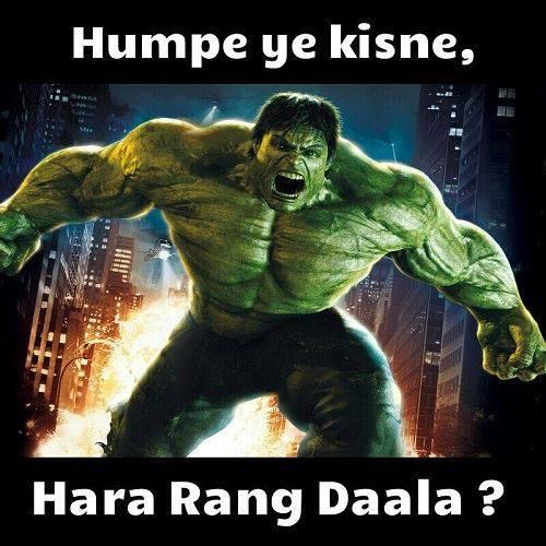 Hulk sings humpe ye kisne hara rang daala