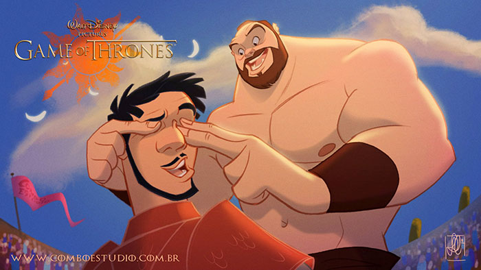 Oberyn & The Mountain- in walt disney Cartoons