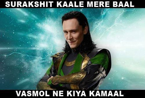 Loki Surkshit kaale mere Baal - Bollywood Reactions to Hollywood