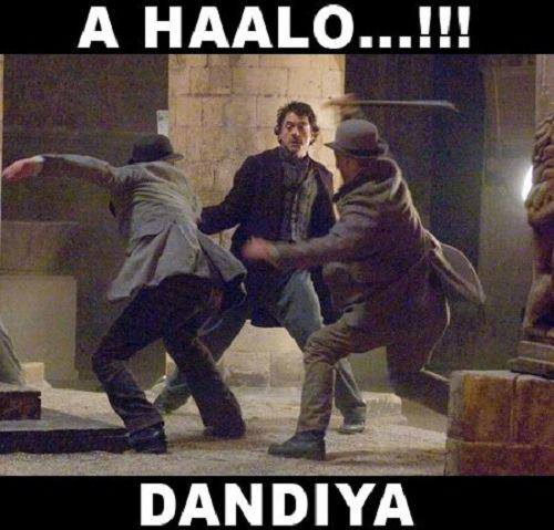 Sherlock Holmes Dandiya - Bollywood Reactions to Hollywood