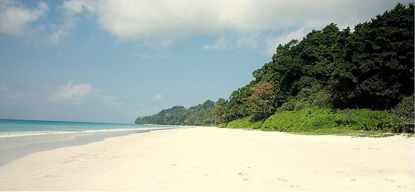Beautiful Beaches at Radhanagar Beach, Andaman and Nicobar Islands
