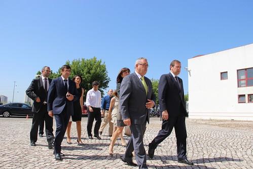 Pedro Passos Coelho em visita à Autoridade Nacional de Proteção Civil