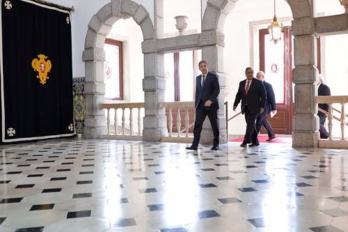 Pedro Passos Coelho e José Matos Rosa no Palácio de Belém