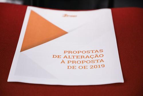 Apresentação das propostas de alteração do PSD ao OE 2019