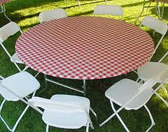 48 Inch Round Plastic Elastic Table Cover