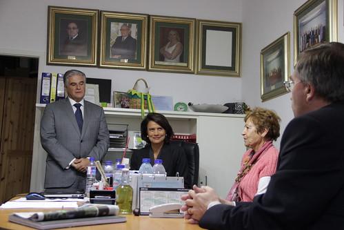 Teresa Morais em visita ao CUTLA