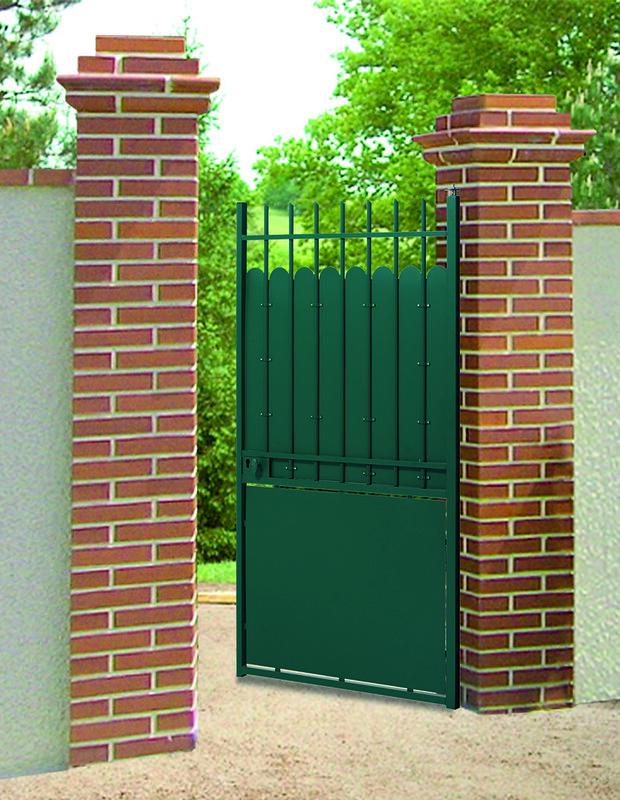 Portail portillon cl ture acier hauteclaire roy for Portillon acier