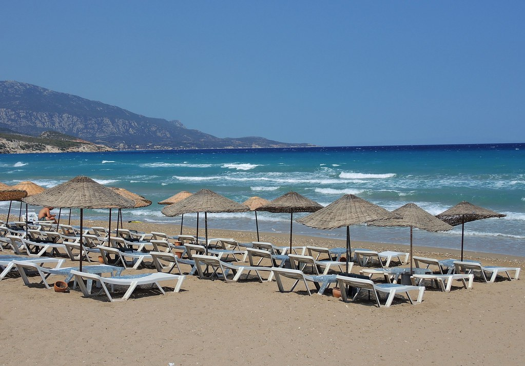 Turkey (Izmir-Mordogan) Late summer beach view