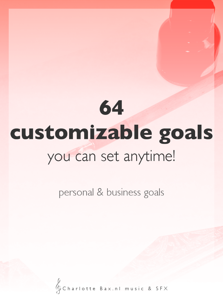 64 customizable goals you can set anytime