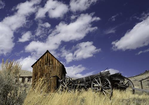 montana day cloudy ghosttown bannack