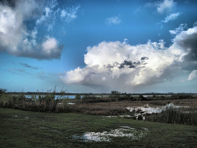 Clouds over Everglades HDR 20120422