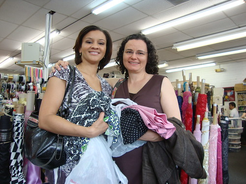 Vanessa, me and our fabric purchases at Gail K fabrics