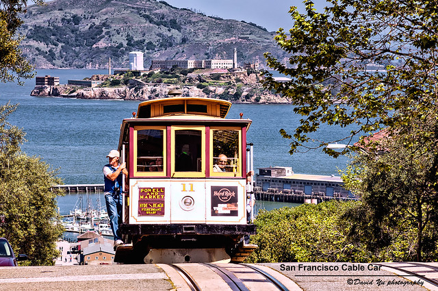 Les fameux cable car de San Francisco. Photo de David Yu @ Flickr.