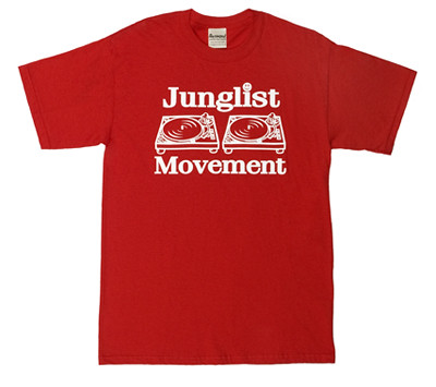 Red Junglist Movement T-shirt