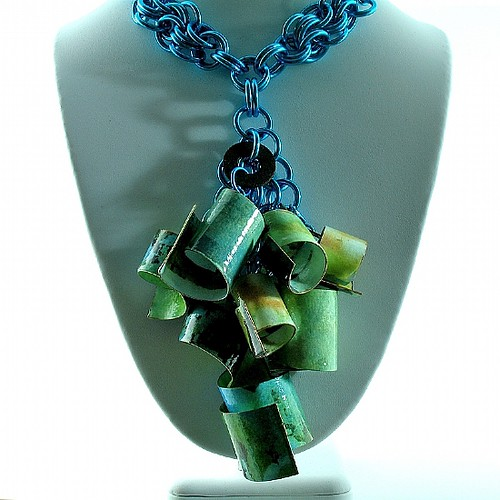 paper-deep-teal-and-turquoise-large-scroll-pendant