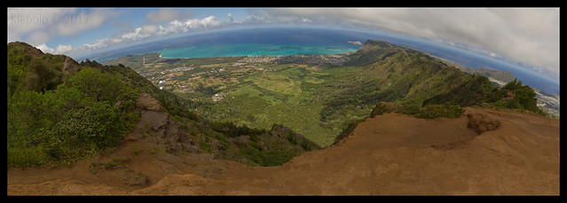 Kuli`ou`ou Ridge Summit Panorama Geo
