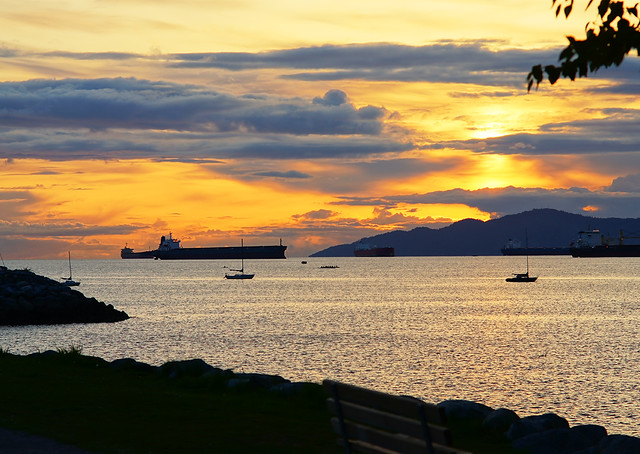 Vancouver Ocean View at Sunset