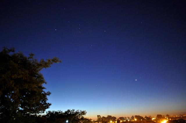 Venus y la Constelación de Orión