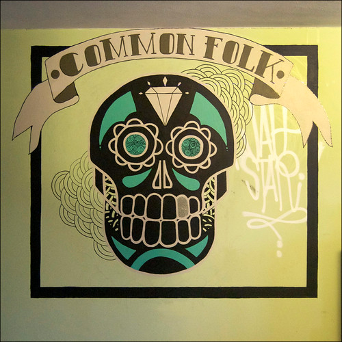 Common Folk Skull Mural Detail