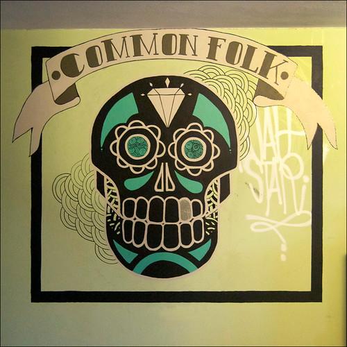 Common Folk Skull Mural Detail