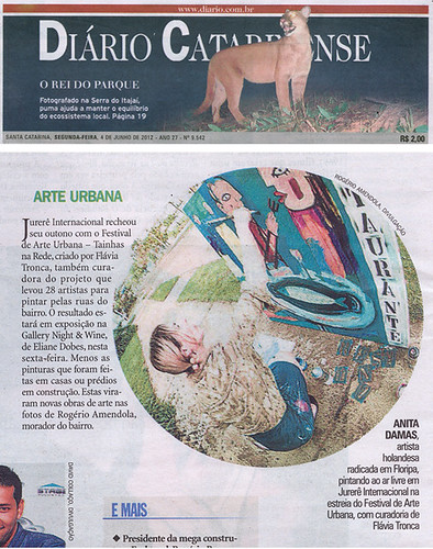 me in Diario Catarinense by good mood factory / Anita Damas