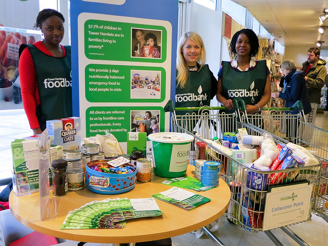 Foodbank in St Katharine Docks Waitrose - 28th April 2012
