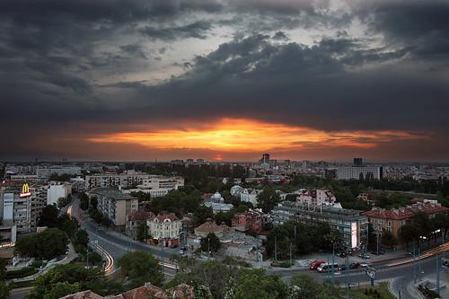 sunset bulgaria plovdiv