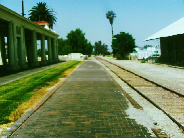 Platform At The Santa Fe Depot In Redlands