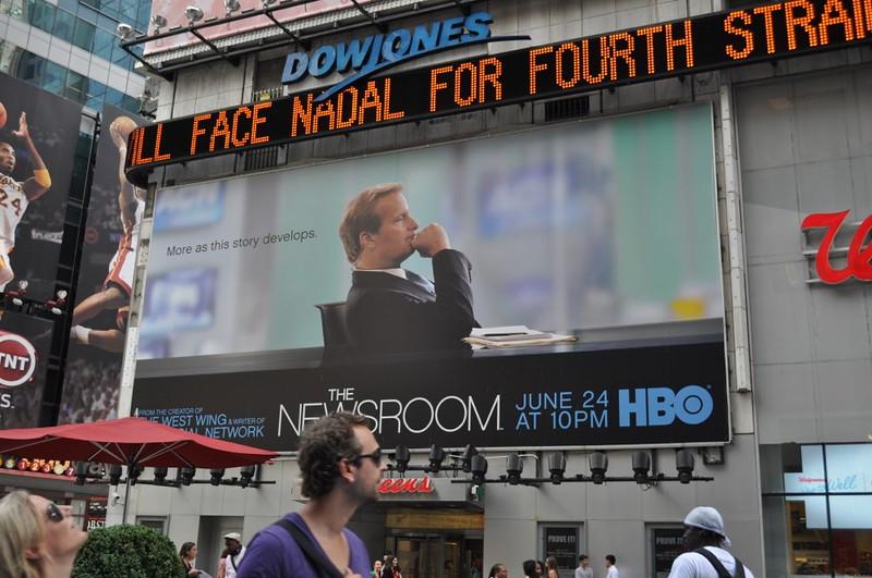 Реклама Ньюсрума на Таймс-сквер в Нью-Йорке