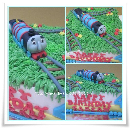Gordon The Tank Engine Cake by DiFa Cakes