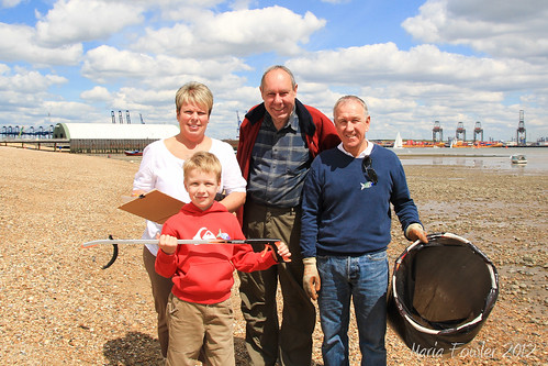 Jo, David, Ivan and Joe at the Harwich Beach Litter Survey