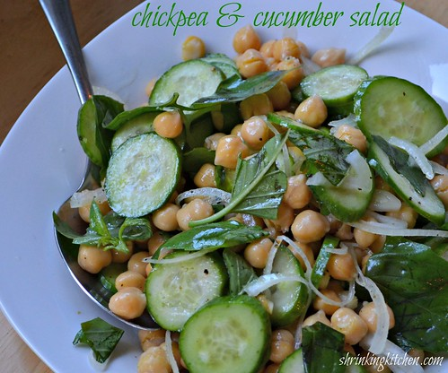 Chickpea & Cucumber Salad from the Shrinking Kitchen