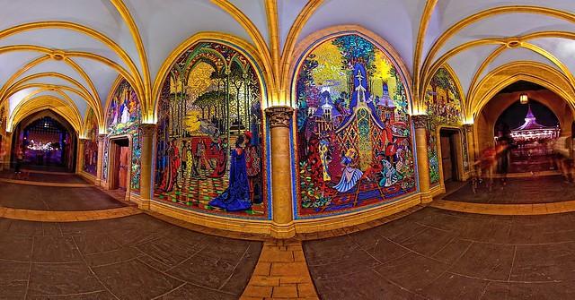 Magic kingdom cinderella castle gateways flickr for Cinderella castle mural