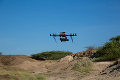 Autodesk Octo-Copter on East Lake Turkana Fossil Exposures