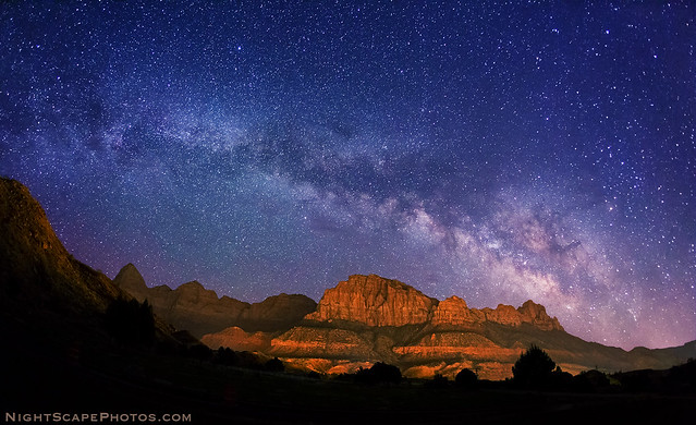 Milky Way stars over Zion National Park