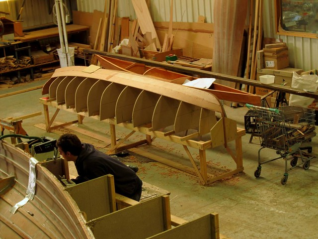 Boatbuilding class - CLC 17ft kayak and Oughtred Acorn 15 Rowboat