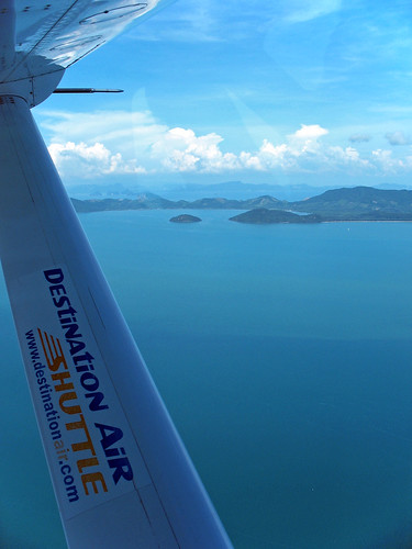 View from seaplane near Phuket