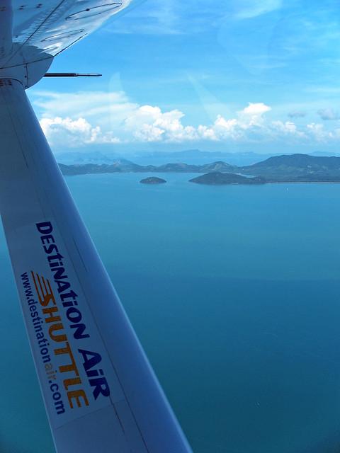 View from seaplane near Phuket