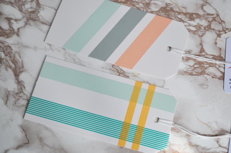 washi tape gift tags diy craft